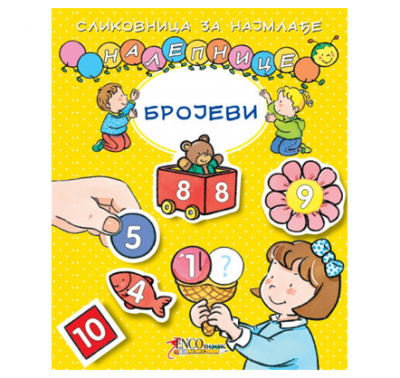 Slikovnica za najmlađe Nalepnice-Brojevi