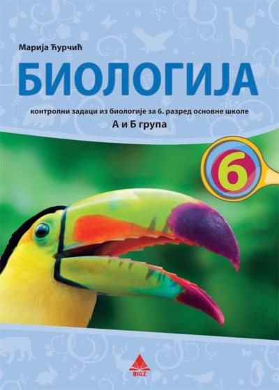 Biologija 6 - Kontrolni zadaci