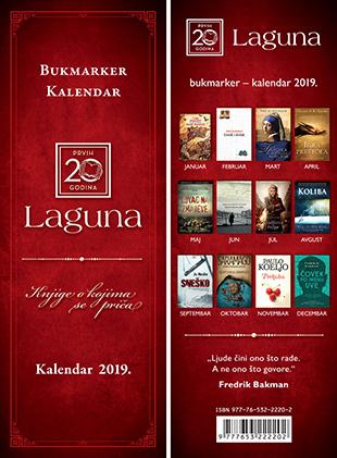 Bukmarker – kalendar 2019: Laguna