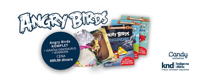 Angry birds komplet + POKLON dinosaurus + POKLON bombone