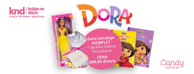 Dora istražuje komplet + POKLON lutka + POKLON bombone