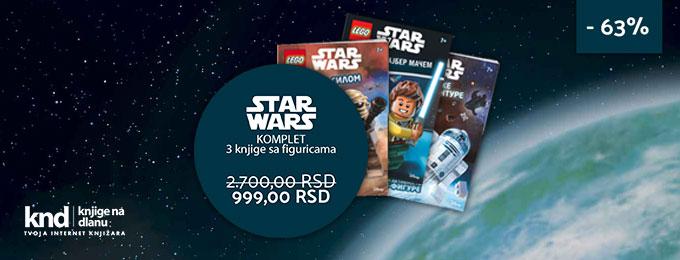 LEGO STAR WARS komplet – 3 knjige sa figuricama za 999