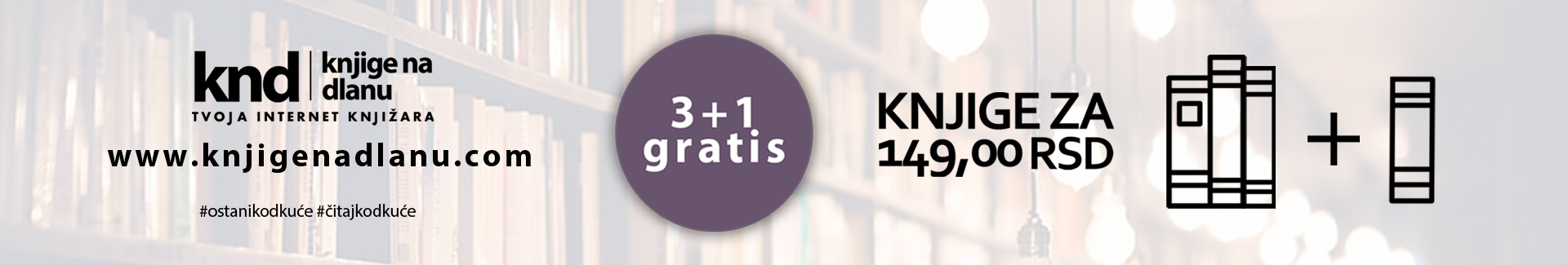 Knjige za 145rsd 3+1 gratis  – Slider