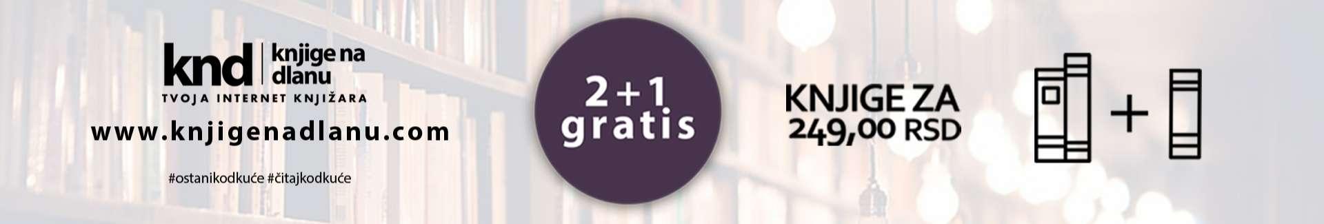 Knjige za 249rsd 2+1 gratis – Slider