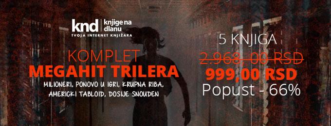 KOMPLET MEGAHIT TRILERA – 5 KNJIGA ZA 999 DIN
