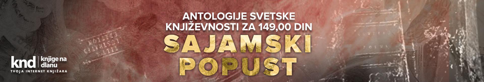 SAJAMSKI POPUST – Antologije svetske književnosti za 149 din