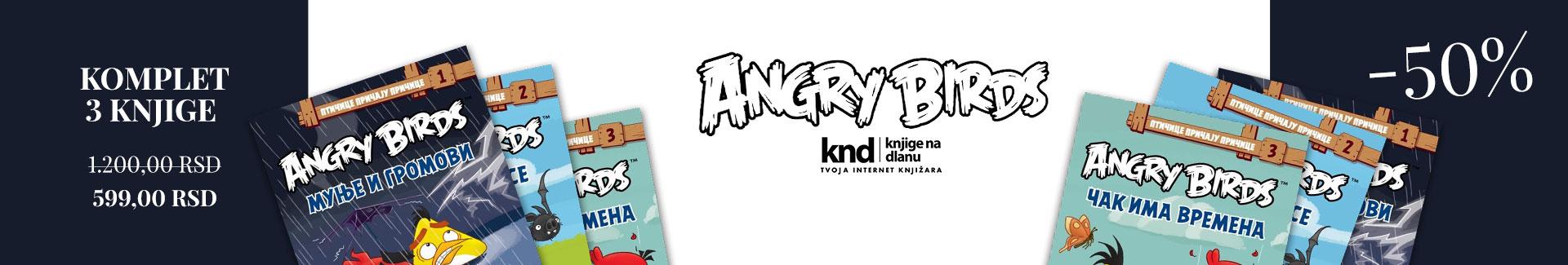 KOMPLET ANGRY BIRDS – 3 KNJIGE ZA 599
