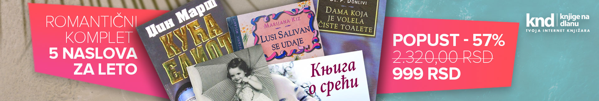 Romantični komplet za LETO – 5 knjiga za 999