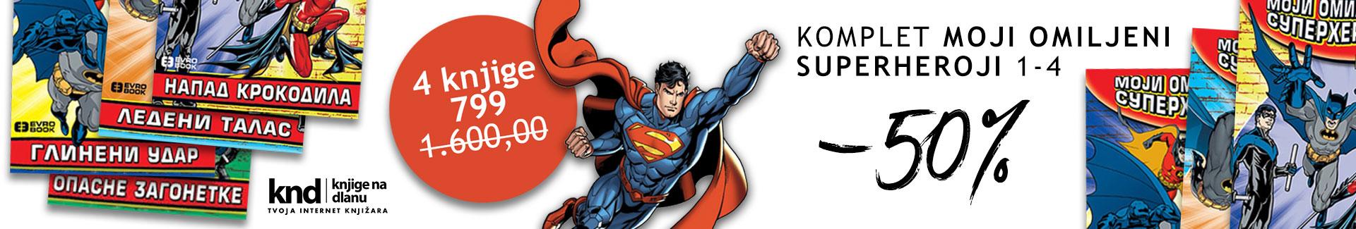 Komplet Superheroji 1-4 – 4 knjige za 799 dinara