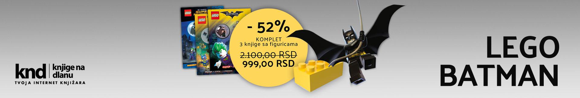 LEGO BATMAN komplet – 3 knjige sa figuricama za 999