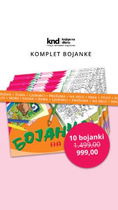 KOMPLET BOJANKE- 10 BOJANKI ZA 999