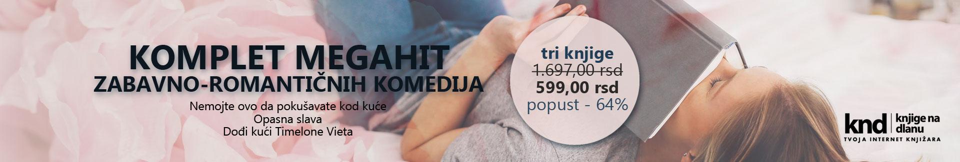 KOMPLET MEGAHIT ZABAVNO-ROMANTIČNIH KOMEDIJA! – 3 KNJIGE ZA 599 DIN