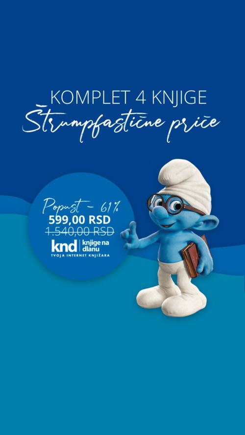 Komplet Štrumpfastične Priče 4 Knjige Za 599 Dinara Knd Ig Story
