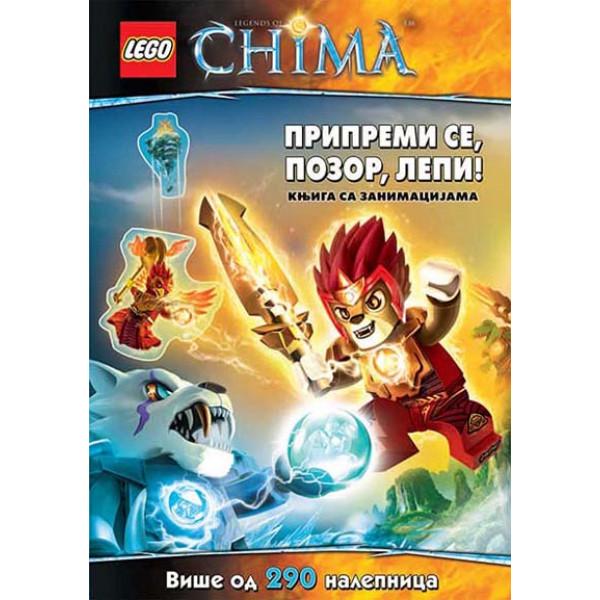 LEGO LEGENDS OF CHIMA- PRIPREMI SE, POZOR, LEPI! 290 NALEPN.