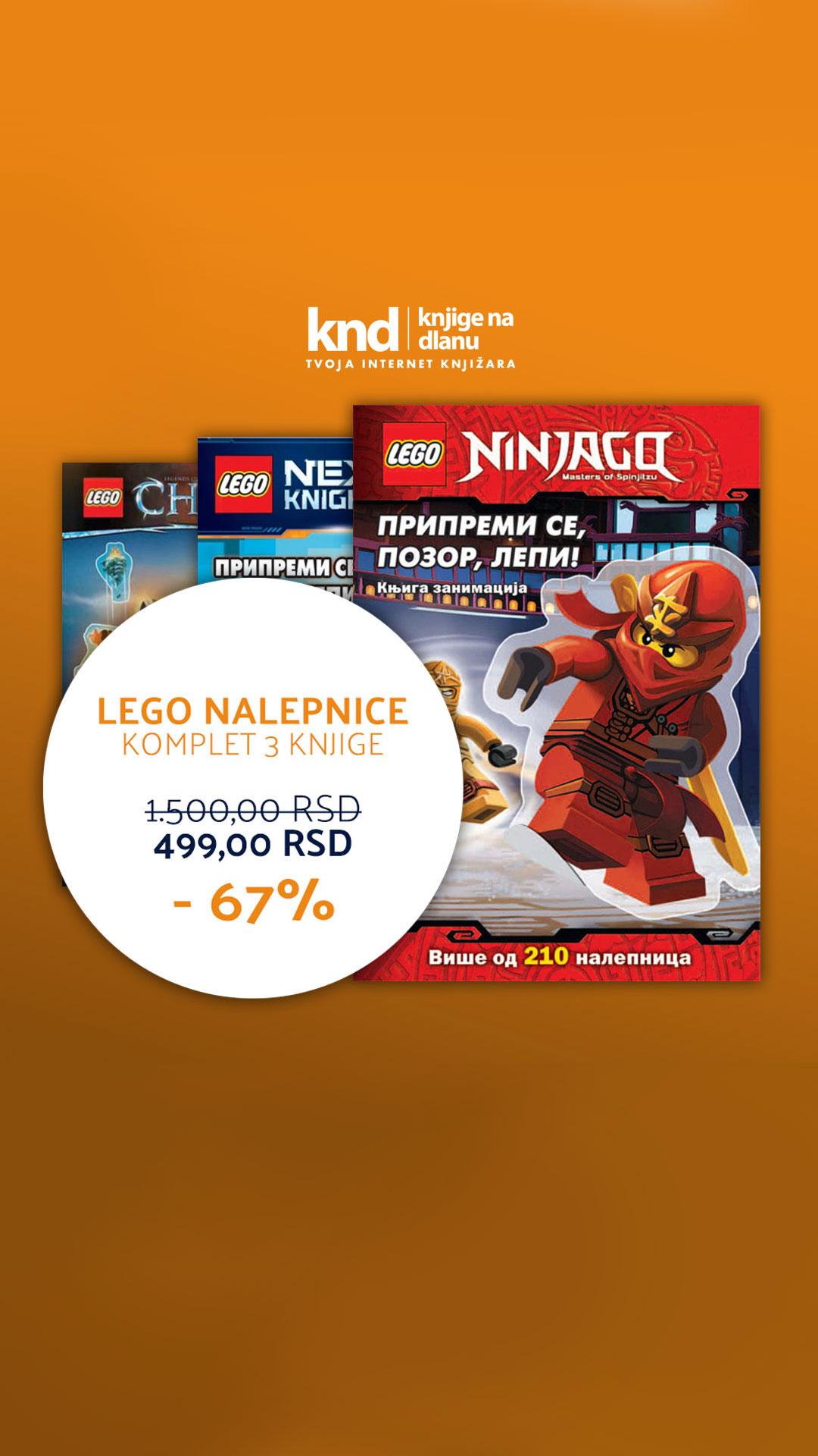 LEGO NALEPNICE KOMPLET – 3 KNJIGE ZA 499