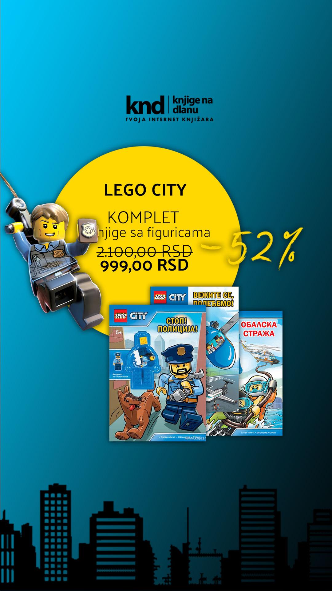 LEGO CITY KOMPLET – 3 KNJIGE SA FIGURICAMA ZA 999