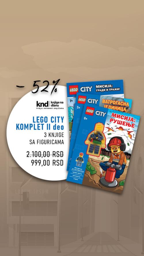 Lego City Komplet Ii Deo – 3 Knjige Sa Figuricama Za 999 Ig Story