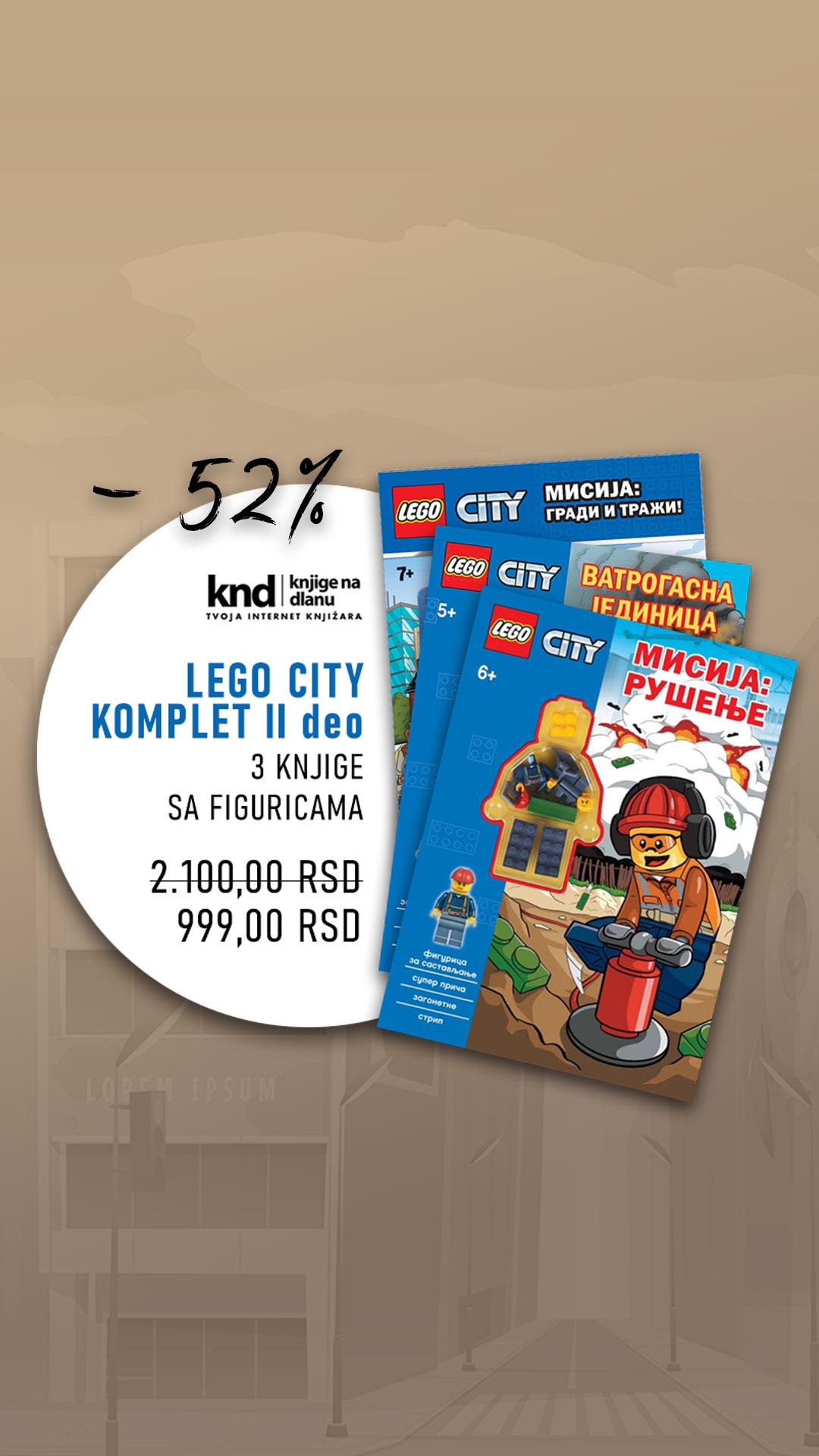 LEGO CITY KOMPLET II deo – 3 KNJIGE SA FIGURICAMA ZA 999
