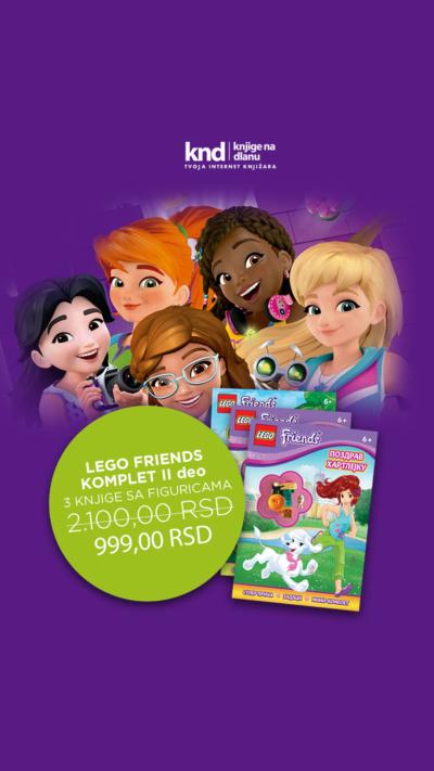 Lego Friends Komplet Ii Deo – 3 Knjige Sa Figuricama Za 999 Ig Story