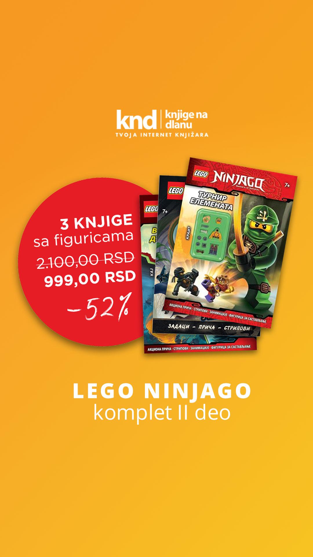 LEGO NINJAGO KOMPLET II deo – 3 KNJIGE SA FIGURICAMA ZA 999