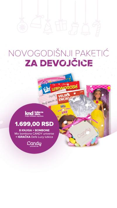 Novogodišnji Paketić Za Devojčice 8 Knjiga + Bombone + Igračka Lutkica Za 1699 Ig Story (1)
