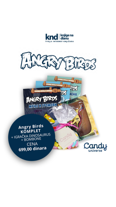 Angry Birds Komplet + Poklon Dinosaurus + Poklon Bombone Ig Story