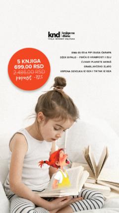 Dečiji romani komplet – 5 knjiga za 699