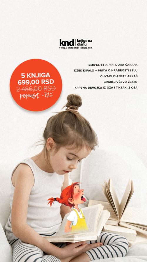 Dečiji Romani Komplet 5 Knjiga Za 699 Ig Story