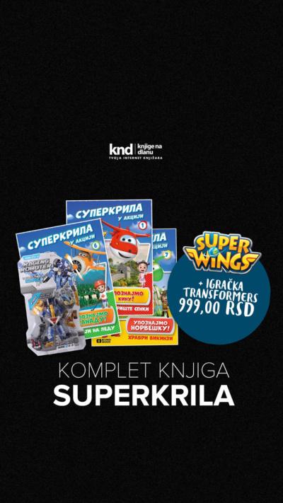 Komplet Knjiga Superkrila + Igračka Transformers Za 999 Ig Story