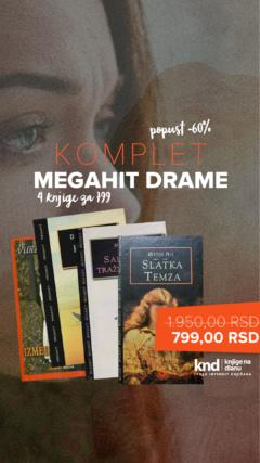 Komplet Megahit drame – 4 knjige za 799
