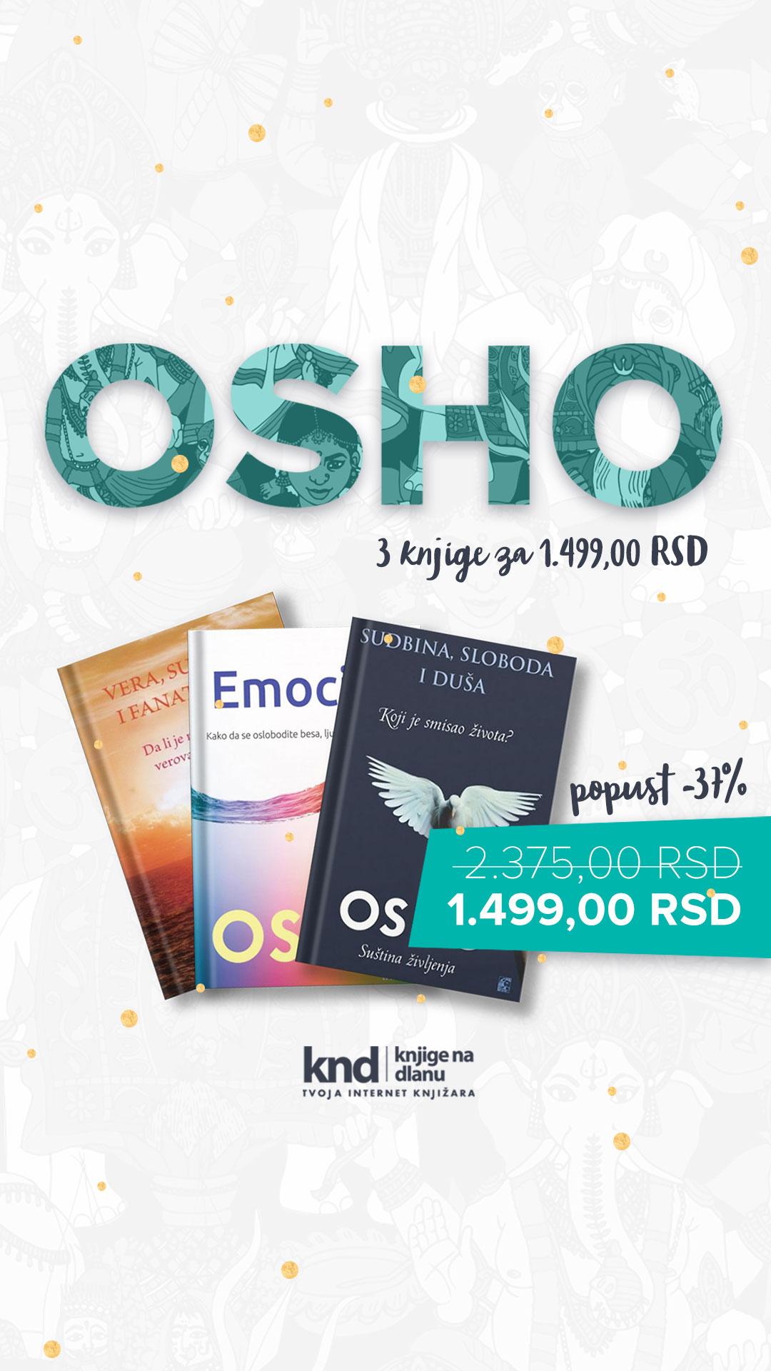 Komplet OSHO – 3 knjige za 1499
