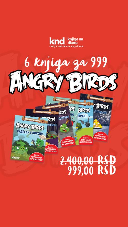 Angry Birds Komplet 6 Knjiga Za 999 Ig Story