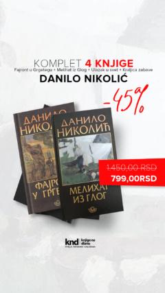 Komplet Danilo Nikolić – 4 knjige za 799